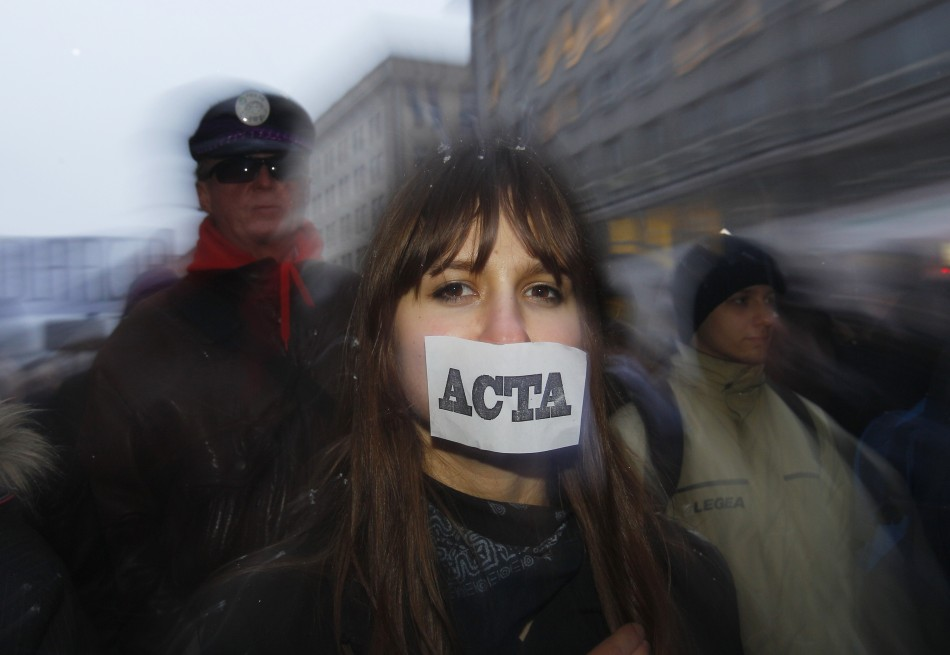Demonstrators fear that Acta, which is to be ratified by the European Union, will be as pernicious as Sopa