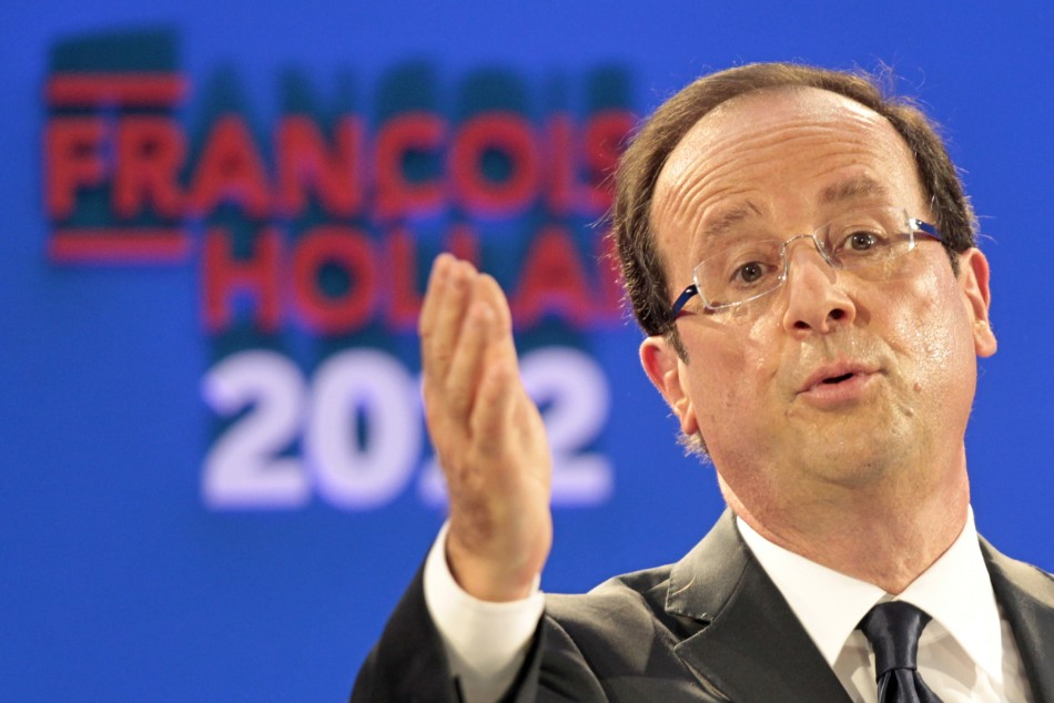 Francois Hollande, Socialist Party candidate for the 2012 French presidential election