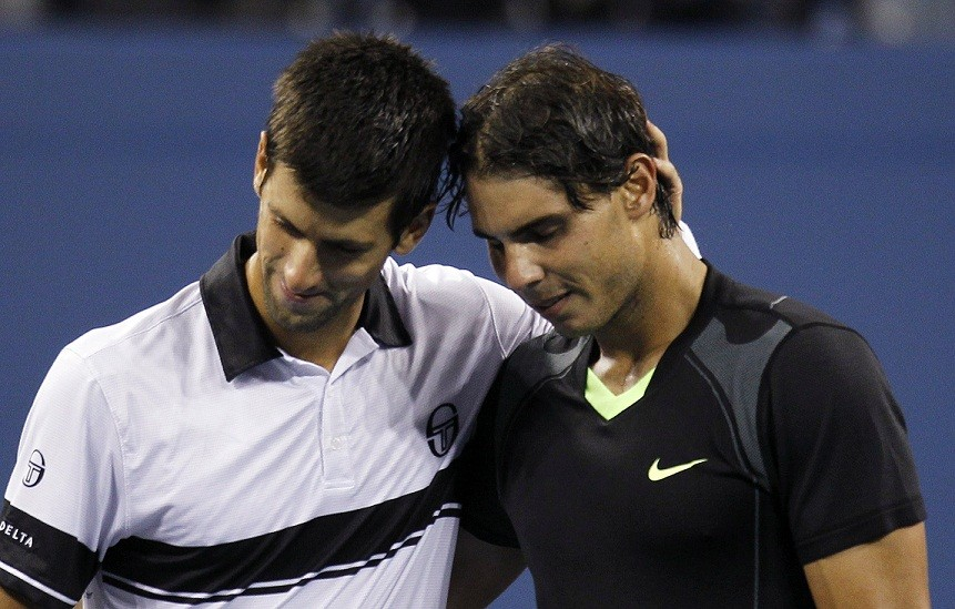 Novak Djokovic beat Andy Murray in the semi-final of the Australia Open to set up another meeting with Nadal. (Reuters)