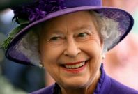Queen Elizabeth II smiling during a visit