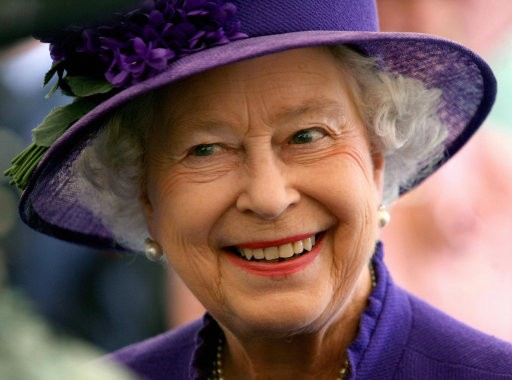 Queen Elizabeth II smiling during a visit