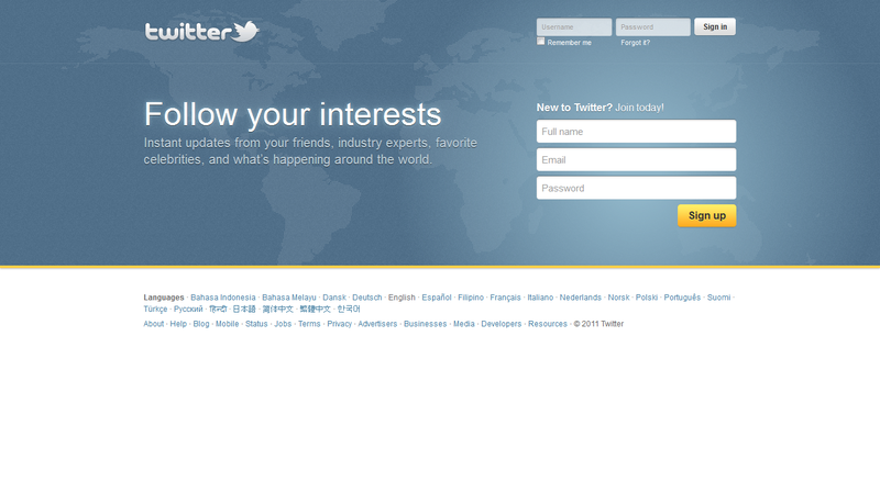 Twitter - Home page
