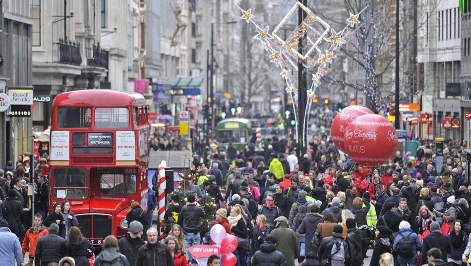 christmas day london tube