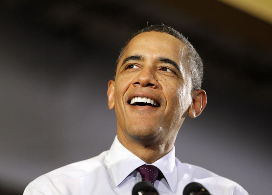 US President Barack Obama speaks at conveyer engineering and manufacturing in Cedar Rapids (Reuters)