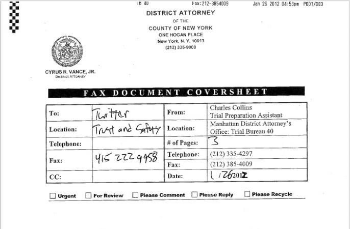 OpSubpoenaThis: New York Authorities Demand Occupy Activist's Twitter Information