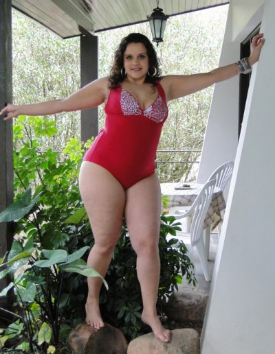 6f2360fb7eb A model wears a swimsuit from the Lehona plus-size collection