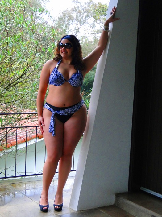 A model wears a bikini from the  Lehona plus-size collection