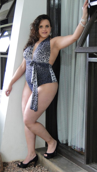 A model wears a swimsuit from the  Lehona plus-size collection