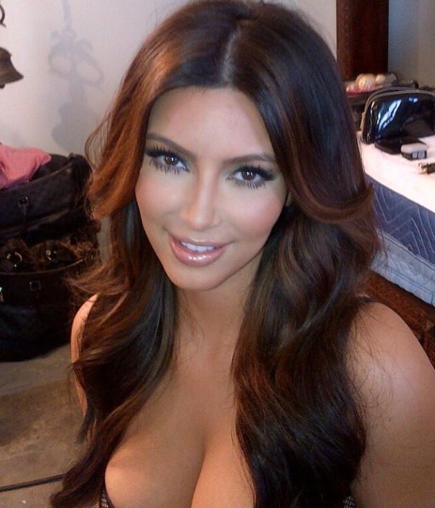70bad754995 Kim Kardashian Poses In Lingerie To Display New Hairdo