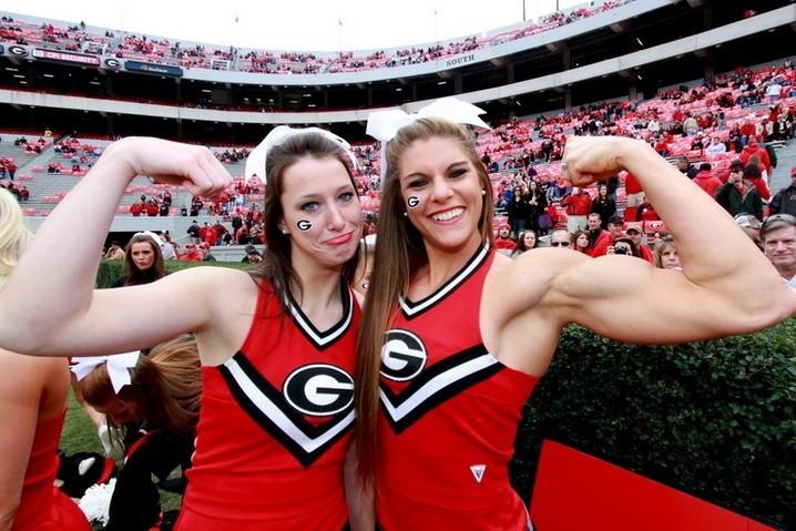 Anna Watson Photos of the Muscle-Bound Cheerleader