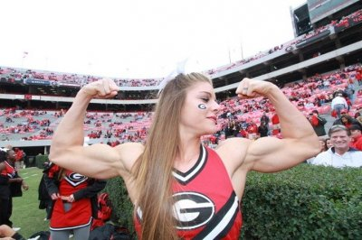 Anna Watson Photos of the Muscle-Bound Cheerleader