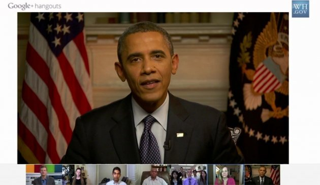 President Obama answers questions on Google + hangout