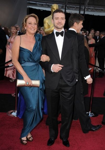 Justin Timberlake and his mom Lynn Harless.