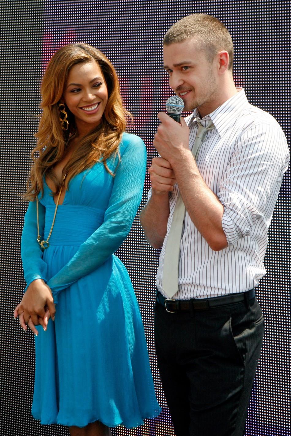 Beyonce Knowles and Justin Timberlake