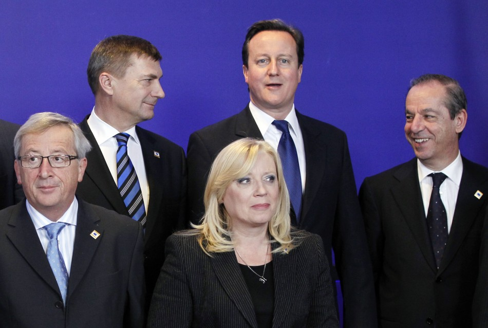 David Cameron is put at the back of the room away from the centre