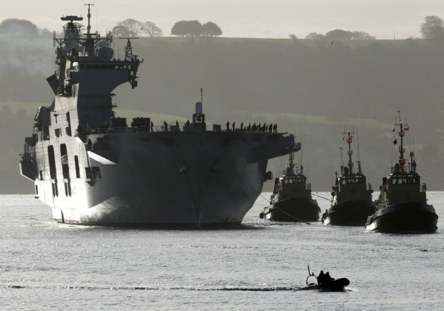 Navy ship in Plymouth