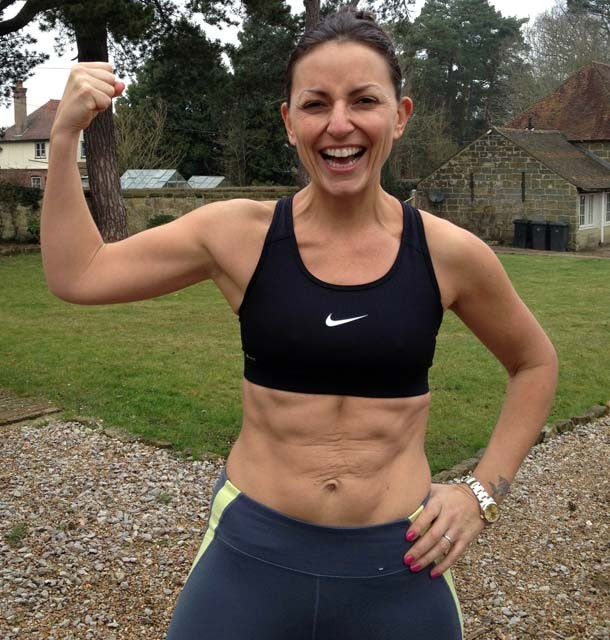 Davina McCall tweeted a picture of her toned physique. (Twitter)