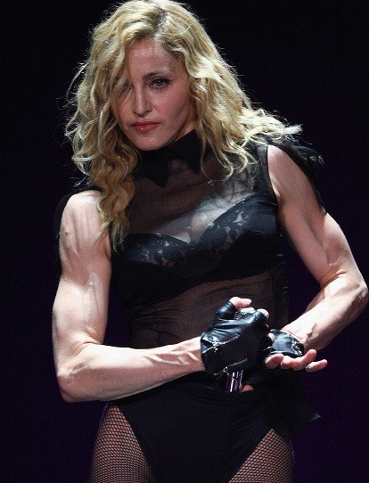 Piers Morgan labelled Madonna 'grotesque' during an appearance on The View (frontside)