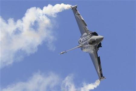 A Dassault Rafale fighter jet