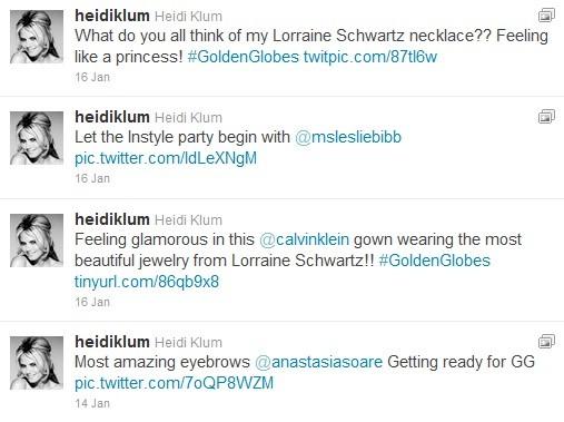 Heidi Klum Tweets