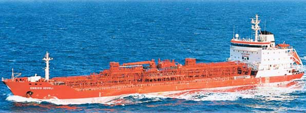 Undated handout picture of tanker Enrico Ievoli which was attacked and seized by pirates in the Arabian Sea