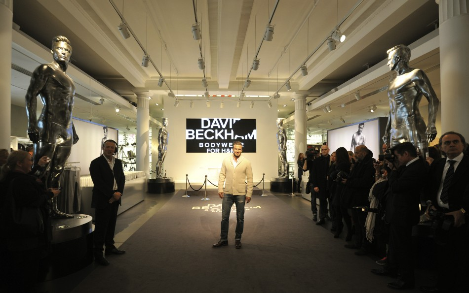 David Beckham Unveils HM Underwear Range in London
