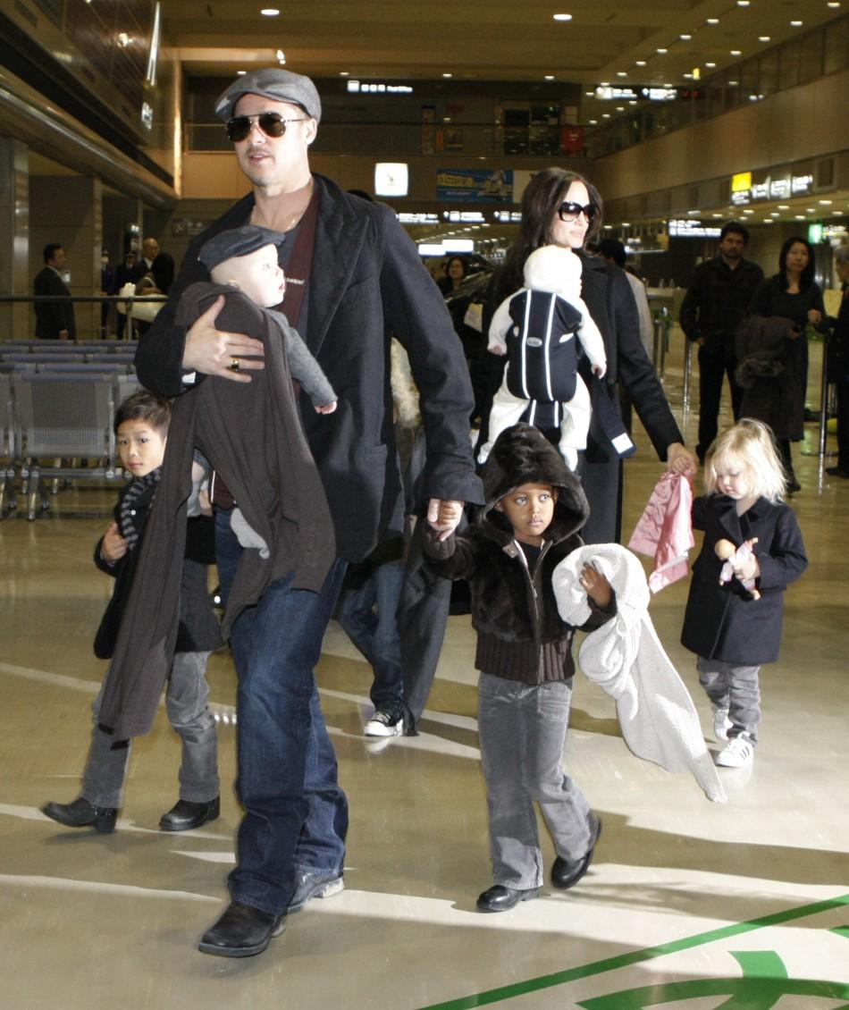 'Brangelina' with their children