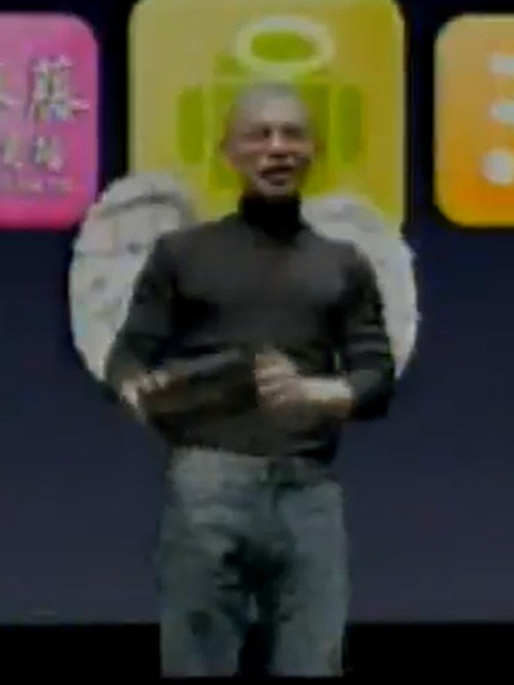Steve Jobs Mocked Action Pad Google Android Ad