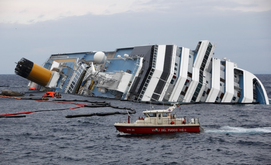 capsized Costa Concordia