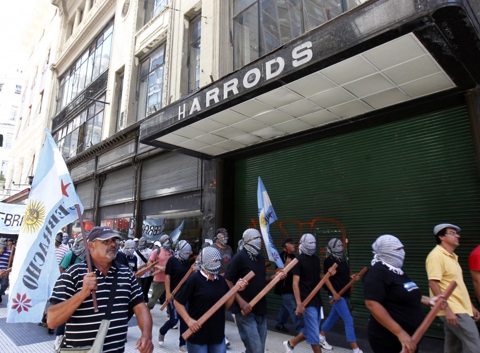 Marching past Harrods