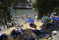 Paris Plages man made beach in Paris