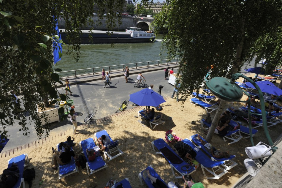 Paris Plages man made beach in Paris