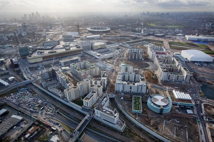 London 2012 Aerial Views of the Olympic Park Released