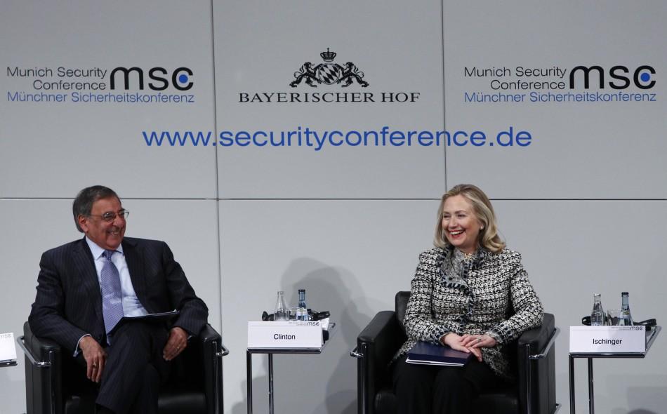 Hillary Clinton and Leon Panetta