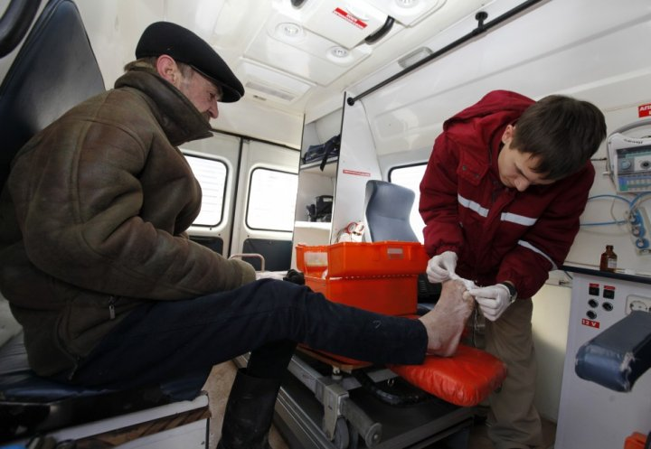 Ukraine People Getting Medical Attention Amidst Deadly Cold Spell
