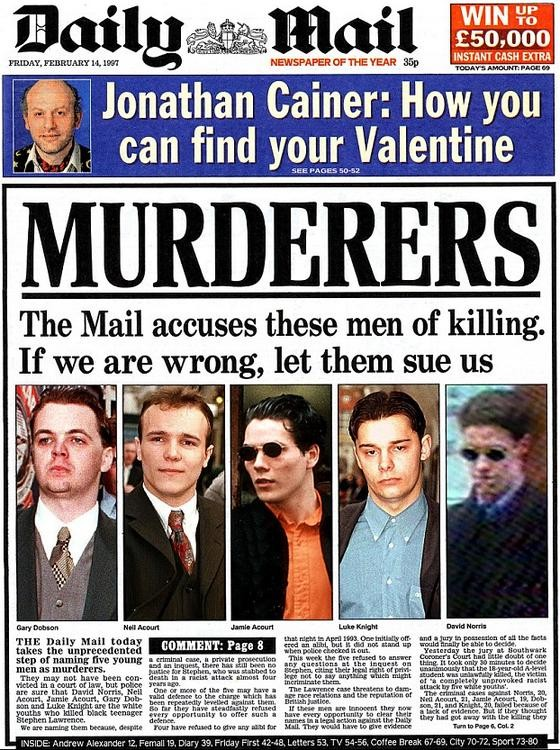Daily Mail Murderers