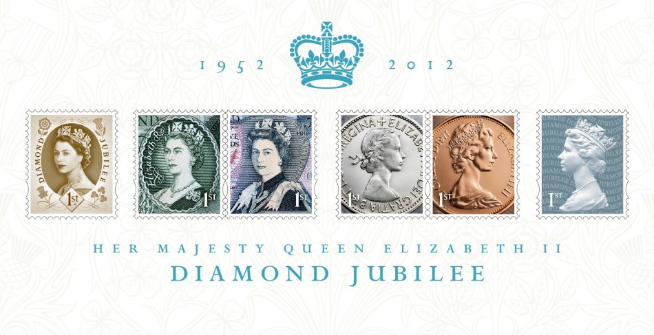 Royal Mail issues collection of stamps to commemorate Queen's Diamond Jubilee