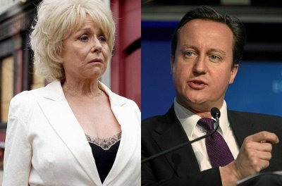 Peggy Mitchell  David Cameron