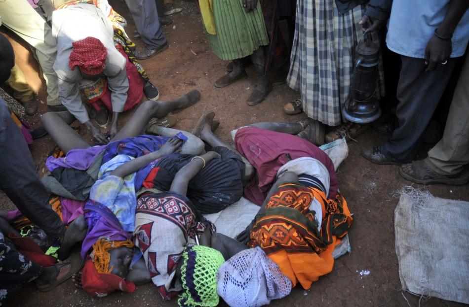 Village surgeon performs female genital mutilation on teenage girls from the Sebei tribe in Bukwa district, Uganda