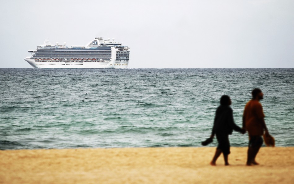 Carnival Corporation cruise ship is seen off beach of Fort Lauderdale