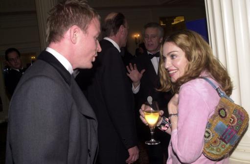 American singer Madonna and her boyfriend British film director Guy Ritchie