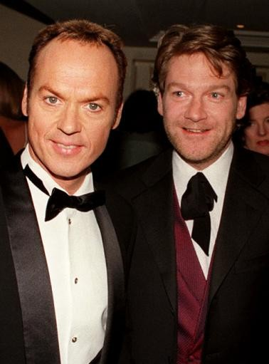 Actors Michael Keaton and Kenneth Branagh