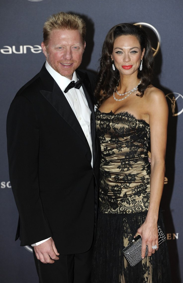 Boris Becker and Sharlely Becker pose for photographs as they arrive for the the Laureus World Sports Awards 2012 in central London February 6, 2012.