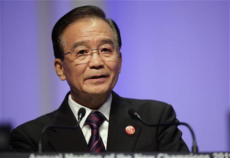 File photo shows China's Premier Wen Jiabao