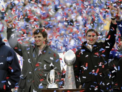 Super Bowl Giants Celebration Football