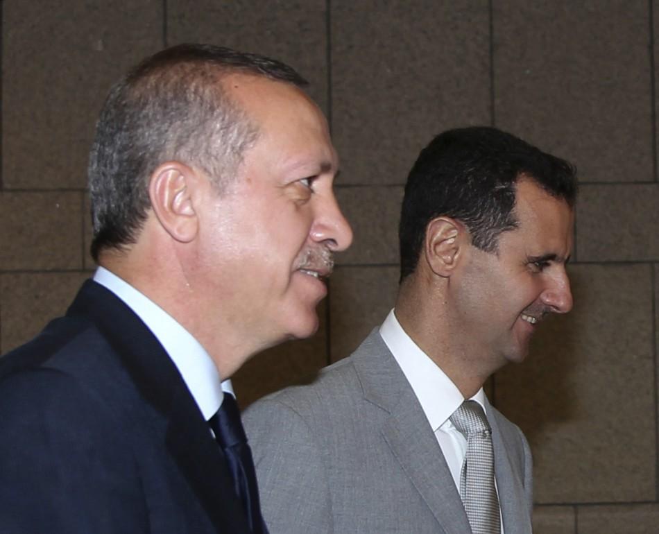 Syria's President Bashar al-Assad and Turkey's Prime Minister Tayyip Erdogan