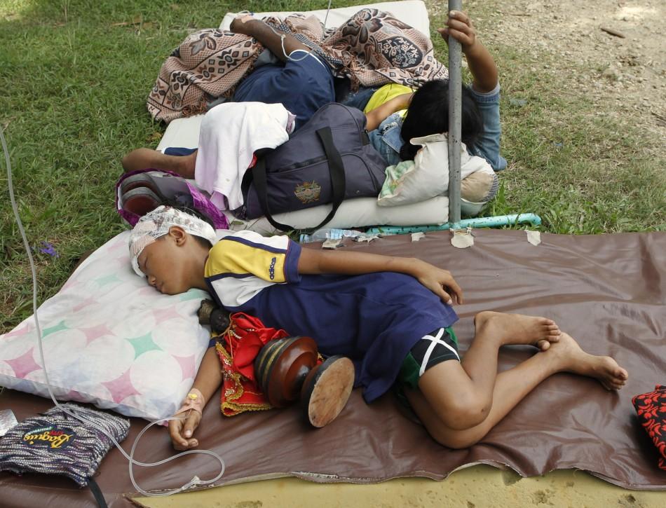 Injured earthquake survivors