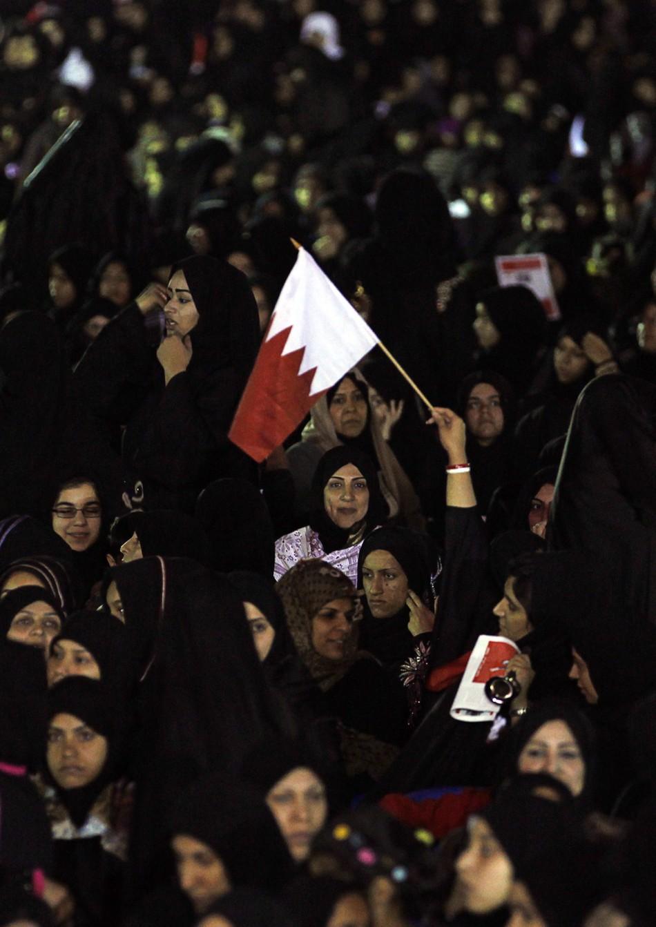 Anti-government protesters in Bahrain