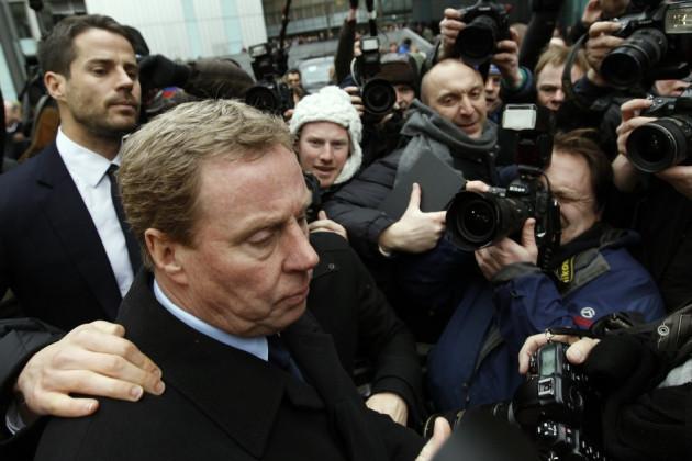 Tottenham Hotspur soccer manager Harry Redknapp leaves Southwark Crown Court in London