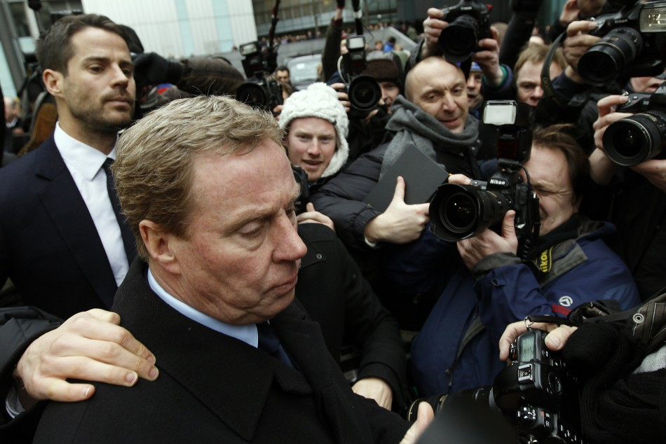 Tottenham Hotspur soccer manager Harry Redknapp leaves Southwark Crown Court in London